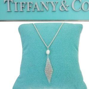 Tiffany &Co  Pertti Mesh Pearl Pendant Necklace